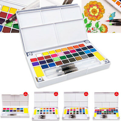 12/18/24/36 Colors Concentrated Solid Watercolor Paint Set Artist Draw Painting