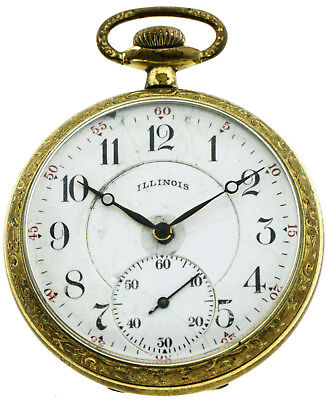 Illinois antike Herren- Taschenuhr um 1900, double, 1A Werk, Men´s Pocket Watch