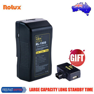 Rolux RL-190S 190Wh 14.8V Sony V-mount V-Lock Li-ion Battery for LED Video Light