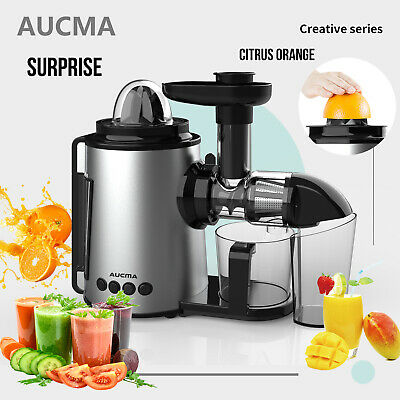 AUCMA Cold Press Slow Juicer Fruit Vegetable Juicer Extractor Citrus Juice Maker