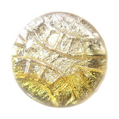 "10/16"" Victorian antique Czech foil under bicolor glass rosette shank button"