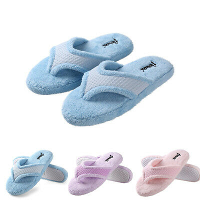 Women Plush Anti-Slip Thong Spa Slippers Home Flip Flops Cozy Indoor Soft Shoes