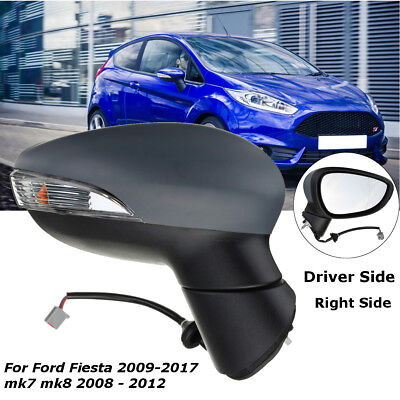 Door Wing Mirror Electric Heated Primed O/S Right For Ford Fiesta mk7 mk8 09-18