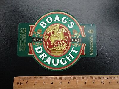 1 x BOAGS DRAUGHT SINCE 1881 COLLECTABLE BEER LABEL