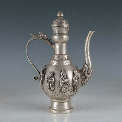 Chinese Silvering Copper Teapot Made During The Da Ming XuandeBT0078