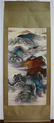 Excellent Chinese Hand-Painted Painting&Scroll Splash Color By Zhang Daqian AL11
