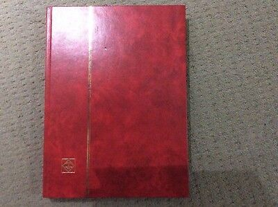 World Stamps & A4 PREMIUM Stockbook 32 Pages - Red Cover