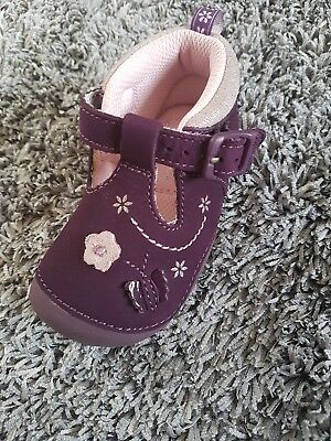 startrite size 3.5h purple shoes baby girls