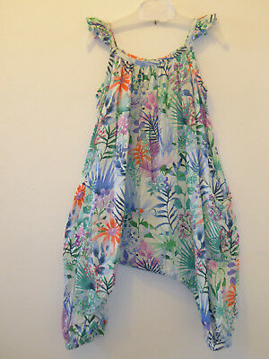 NEXT - Beautiful Baby Girls BOTANICAL Romper All In 1 Playsuit 12-18 Months VGC