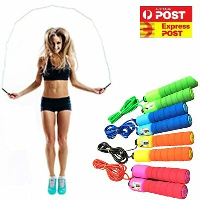Digital Counter Skipping Jump Rope Workout Exercise Gym Fitness Jumping Skip AU