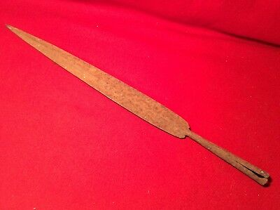 Antique Hand Forged Steel Spear Point  Spear Head - N.r.