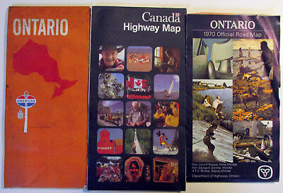 Ontario 1970 Travel Road Map, American Oil AMOCO