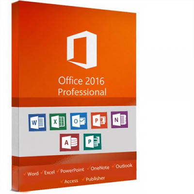 Microsoft Office 2016 Professional Plus 32/64. KEY 60 second Buy NOW HOT