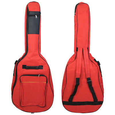 Red 41'' Oxford Padded Electric Bass Guitar Gig Bag Case Double Straps Backpack