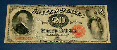Act of 1863 Series 1880 TWENTY DOLLAR Hamilton Red Seal $20 United States Note