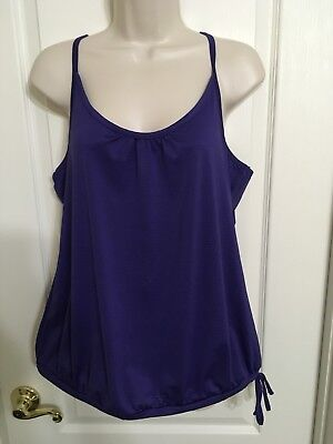 Womens Old Navy Active Large Loose Fit Active Tank Purple Large