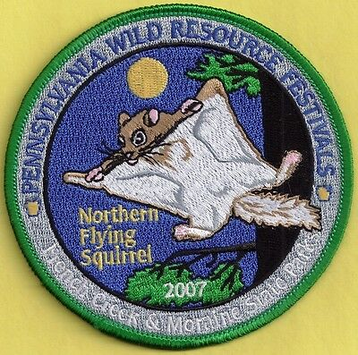 "Pa Pennsylvania Fish Game Commission 2007 WRCF Northern Flying Squirrel 4"" Patch"