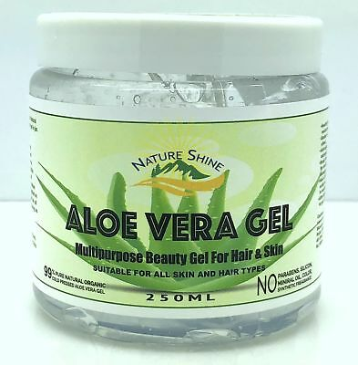 Aloe Vera Gel 99% Pure Organic Multipupose Skin & Hair Care Soothing Moisturiser