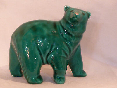 tirelire ours faience a casser ancienne old Money box bear