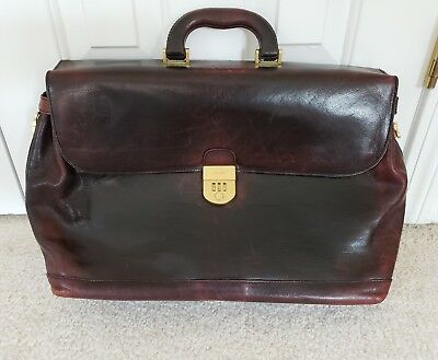 Bally Leather Briefcase Brown