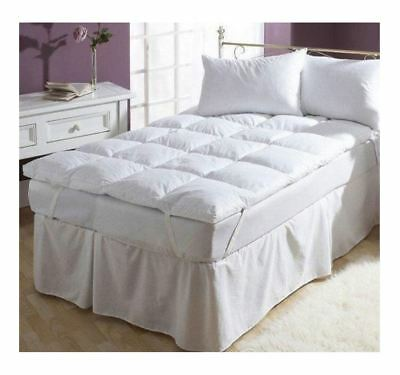 Luxury Soft 100% Cotton Duck Feather And Down Mattress Filled Topper All Size
