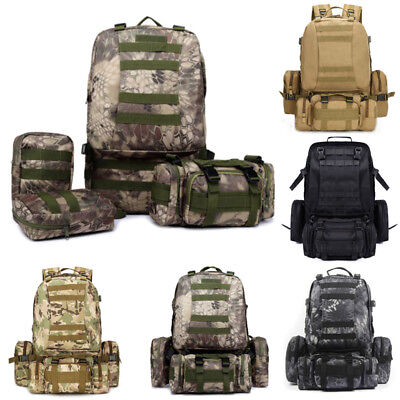 YOOMALL 55L Molle Outdoor Military Tactical Bag Camping Hiking Trekking Backpack