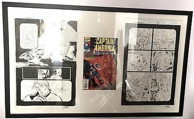 Original Marvel Captain America Sentinel Of Liberity Issue 11 Pages 17-18 Artist