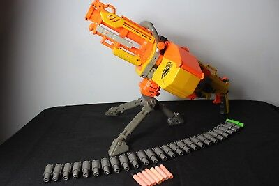 Nerf Havok Fire Ebf-25 N-Strike Havoc Gun + Ammo Belt + Bullets