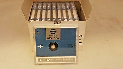 NOS Minolta Still Video Floppy Disk MS-F50 (box of 10)  for SB-70 SB-90 databack