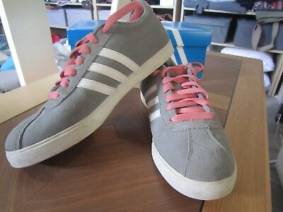 Baskets Sneakers  ADIDAS NEO LABEL Gazelle Suede Gris/Rose - 38 2/3 *NEW