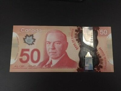 Canada  2012  UNC $50 Dollars  Bank Note (Polymer).GHB  series.See PICTURES.