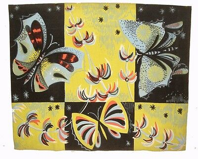A Beautiful 1950's Tapestry with Large Butterflies