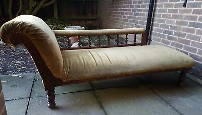 Victorian, Edwardian Antique Chaise Longue