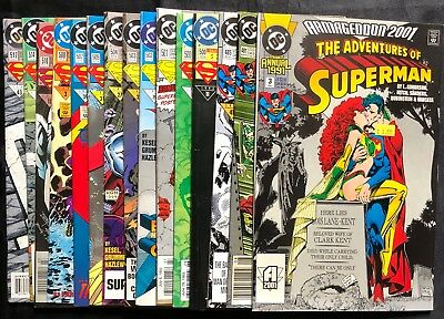 Lot Of 15 The Adventures Of Superman (Dc,1991-1994) #3,481,485.. Copper/modern*