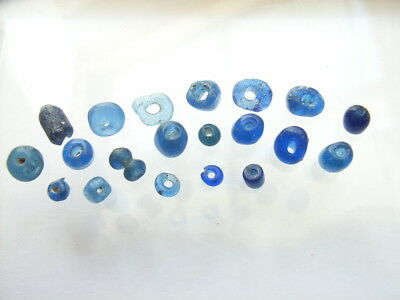 20 Ancient Roman Smaller Glass Beads Romans VERY RARE!  TOP !!