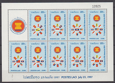 Laos 1997 Asean Admission Sheetlet Mint Never Hinged