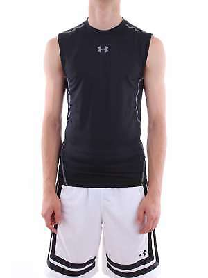 Under Armour 1257469-UA-HG-ARMOUR-SL 0001-nero-0001 Canotta Uomo