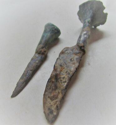Roman Period - Set Of Two Surgical Scalpels - Medical Equipment - Rare