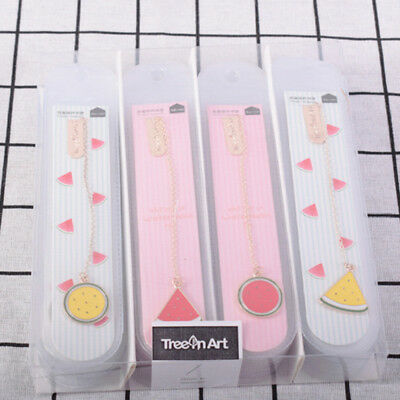 Watermelon Metal Bookmark Paper Clip Stationery Pendant Student Office Supply