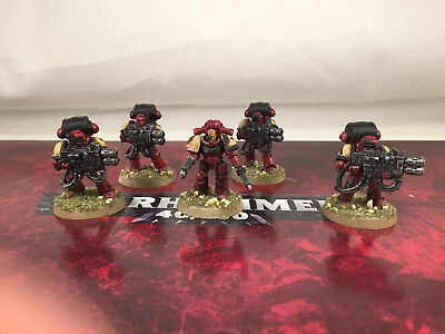 Warhammer 40k Space Marine Devastators Multimelta Painted Blood Ravens