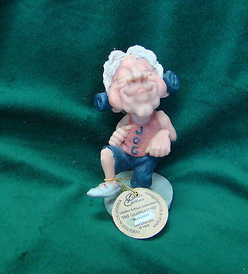 """The Grandpions Calaba's Creations """"Marathon"""" Figurine with Tag, Collectible"""