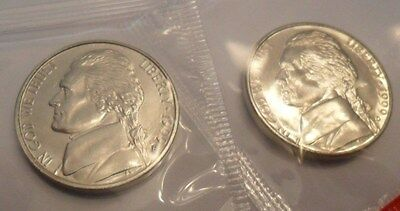 1999 P & D Jefferson Nickel Set (2 Coins) *mint Cello*  **free Shipping**