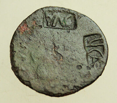 Augustus Bronze Dupondius 26mm Countermark of Tiberius