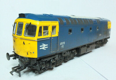 Heljan 3311 Class 33 6572 Br Blue Livery Weathered Dcc Ready 00 Gauge