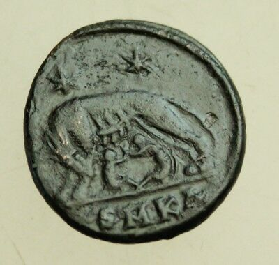 URBS ROMA AE 19mm Follis Commemorative She-Wolf Romulus Remus