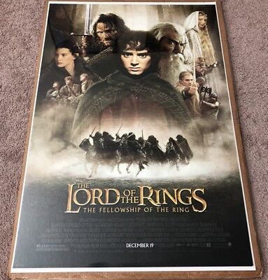LORD OF THE RINGS FELLOWSHIP ORIGINAL 1  SHEET MOVIE POSTER 27x40 DS ROLLED **