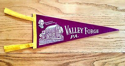 "Vintage 16"" Valley Forge PA ~ Washington's Headquarters Souvenir Felt Pennant"