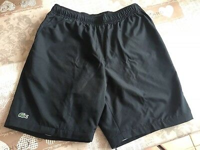 Older Boys Lacoste Summer Shorts Black Size 12 13 14 Years Excellent Condition