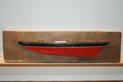 Vintage Half Hull Wooden Ship Model Plaque USA Made Maritime Ships Boat Sailing.