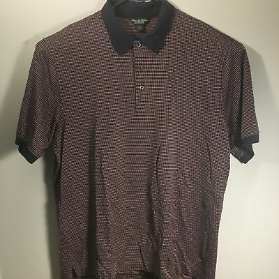 Brooks Brothers Country Club Performance Knit Polo XL SS patterned
